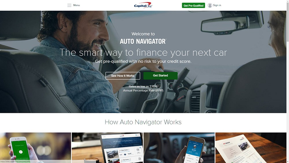 Capital One Auto Navigator website