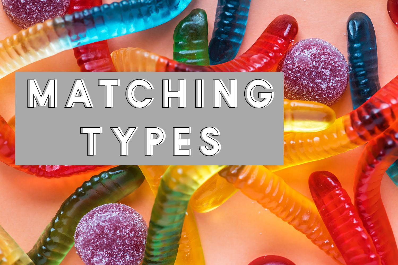 matching type sensory bin