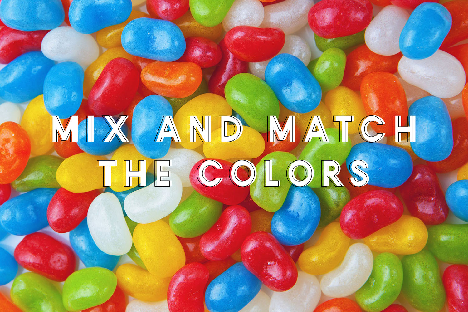 mix and match sensory bin